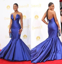 Fashion hits and misses for the 2014 Emmy Awards | Gallery | Wonderwall-Keke Palmer