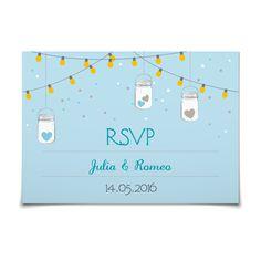 Antwortkarte Leuchtendes Fest in Himmelblau - Postkarte flach #Hochzeit #Hochzeitskarten #Antwortkarte #kreativ #modern https://www.goldbek.de/hochzeit/hochzeitskarten/antwortkarte/antwortkarte-leuchtendes-fest?color=himmelblau&design=084a8&utm_campaign=autoproducts