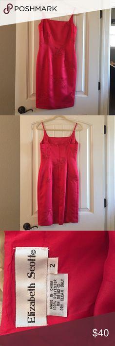 Elizabeth Scott Strappy Dress Beautiful red dress. Very flattering. Elizabeth Scott Dresses Midi