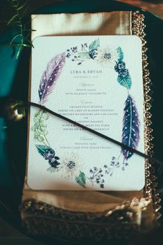 Photography: Off Beet Productions; Entice Your Guests with These Lovely Wedding Menu Stationery Ideas