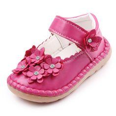 높은 품질 아름다운 가죽 꽃 얕은 아기 소녀 공주 신발 1-3 년