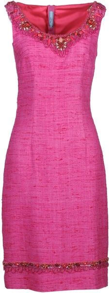 PRADA Embellished Pink Dress