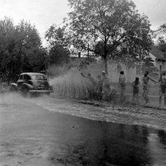 Kids Playing After Rain Antigo, Wisconsin, June, 1947.