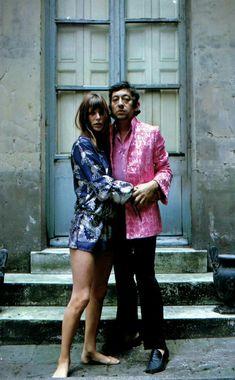 Jane Birkin și Serge Gainsbourg cel mai glam cuplu al anilor Serge Gainsbourg, Gainsbourg Birkin, Charlotte Gainsbourg, Kathleen Hanna, Brigitte Bardot, Riot Girl, Style Jane Birkin, Bianca Jagger, Stylish Couple