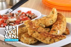 Chicken Breast Strips with Tomato Salad - A healthy option for your Yes You Can! Diet Plan dinner