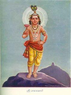 Sri Balaswami (the young boy Muruga)