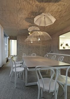 Plywood walls and ceiling! guessing it is a cottage.Love it