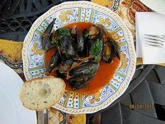 Mussels Marinara, a recipe on Food52....absolutely fantastic...did these with a lamb steak....