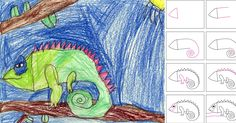 I showed my students how to draw a chameleon last week, which have lots of possibilities when it comes to coloring. Here's my breakdown of ...