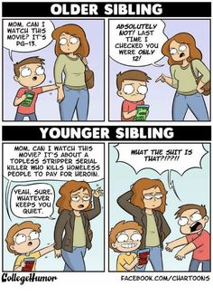 middle child humor Why the youngest sibling is always called. Why the youngest sibling is always called. Funny Shit, Funny Posts, Funny Cute, The Funny, Funny Kids, Funny Stuff, Siblings Funny, Sibling Memes, Older Siblings