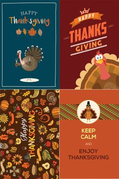 A sample of four designs from our Thanksgiving collection
