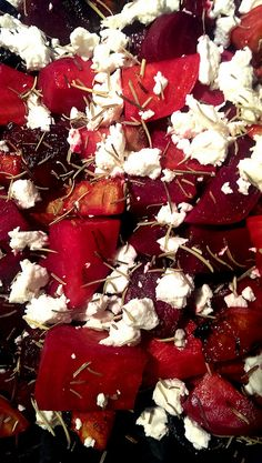 Balsamic Roasted Beets with Goat Cheese