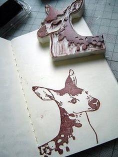 deer stamp by 7Morgen