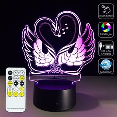 #3D Goose Lover Optical #Lamp #GEEKLED