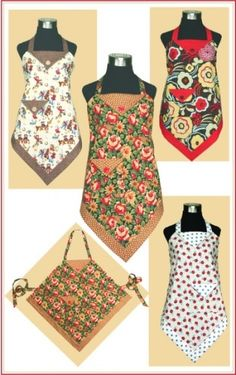 Four Corners Apron.  Easy and fast and cute too.  I'd love to make one of these :)