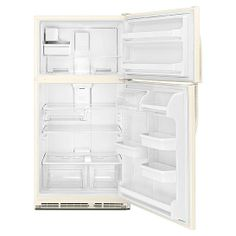 kenmore top freezer refrigerator. kenmore 21.0 cu. ft. top-freezer refrigerator w/ ice maker - bisque top freezer
