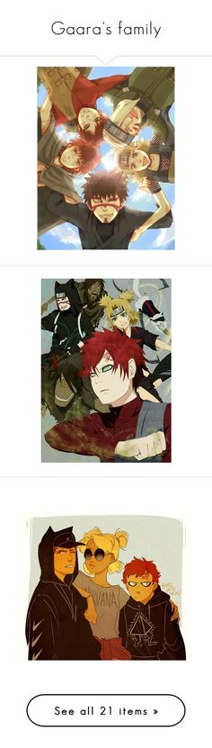 """""""Gaara's family"""" by ronniethisisme ❤ liked on Polyvore featuring naruto, anime, home, home decor and christmas home decor"""