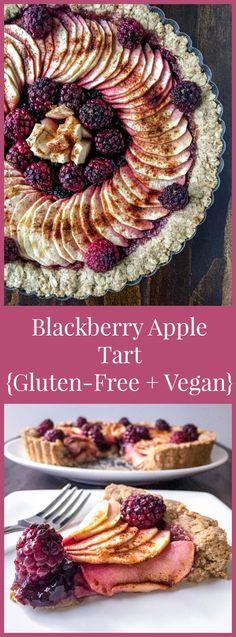 Blackberry Apple Tart {Gluten-Free + Vegan} - an easy make-ahead dessert for the holiday season.