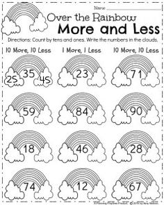 Worksheets Possessive Nouns Word First Grade Worksheets For Spring  Math Worksheets Worksheets  Grammar Worksheets Grade 2 with Energy Transformation Worksheet Pdf March St Grade Math Worksheet  Over The Rainbow  More  Less Twelve Step Worksheets Excel