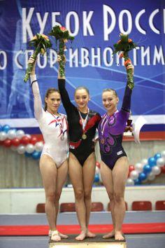 Ksenia Afanasyeva, Aliya Mustafina and Ksenia Semenova