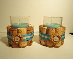 Wine Cork Votive Candle Holder