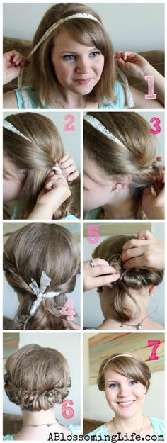 Easy Twisted Up Do For Very Short Hair