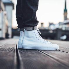 CONVERSE Chuck Taylor Leather High White #allstar #chucks #white #fashion