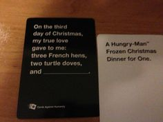 """The time it suddenly became very real. 26 Times """"Cards Against Humanity"""" Was Almost Too Perfect Funniest Cards Against Humanity, Cards Of Humanity, Funny Pins, Funny Stuff, Random Stuff, Horrible People, Funny Cards, Funny Messages, Frases"""