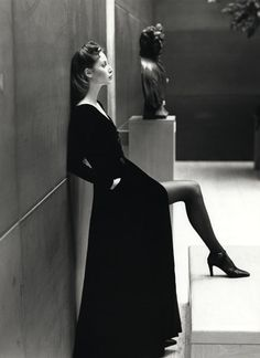 A Patrick Demarchelier photograph of Christy Turlington.