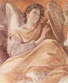 The Queen of Heaven and angels pla (Frescoes in the Palazzo Quirinale, Cappella dell'Annunciata, vault fresco scene)