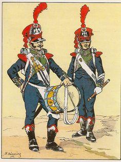 French; 8th Light Infantry, Grenadier Drummer & Grenadier Fifer Corporal, 1809