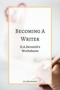 Using writing worksheets for blog post inspiration | Little Novelist