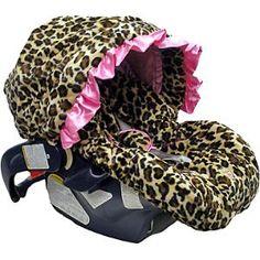 Leopard Leopard Leopard Lollipop Leopard Pink Infant Car Seat Cover