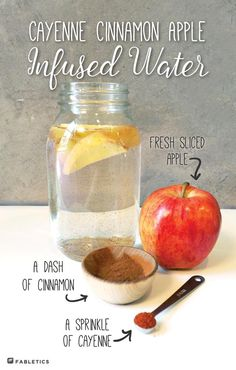 Add some spice to your water with this delicious apple cinnamon infused water recipe. More on blog.fabletics.com