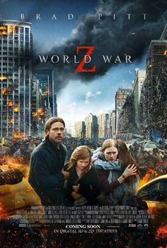 World War Z - Movie Poster - (released not into zombie movies - but love Brad Pitt! Films Hd, Films Cinema, Hd Movies, Film Movie, Horror Movies, Movies Online, Action Movies, Brad Pitt, Marc Forster