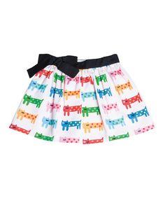 White & Green Cat Skirt - Infant, Toddler & Girls #zulily