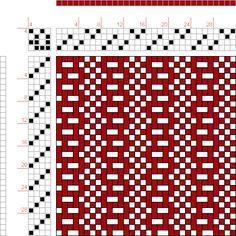 Weaving Draft 08210, 2500 Armature - Intreccio Per Tessuti Di Lana, Cotone, Rayon, Seta - Eugenio Poma, Italy, 1947, #42080