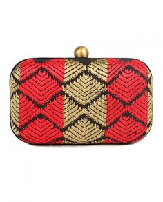 Red and Golden Phulkari Clutch Shop now on :  bit.ly/Aiyanashop