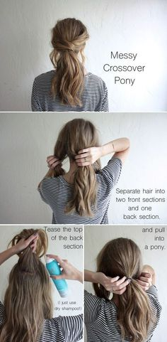 Do you love ponytail hairstyles? If you say yes, you will adore today's post. It will tell you how to glam a ponytail in such cold days with some simple hair tricks. Just stay with Prettydesigns and c(Rockabilly Hair Tutorial) Diy Hairstyles, Pretty Hairstyles, Low Pony Hairstyles, Simple Ponytail Hairstyles, Wedding Hairstyles, Hairstyles For Medium Length Hair, Ponytail Hairstyles Tutorial, Super Easy Hairstyles, Japanese Hairstyles