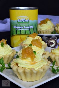 Tarte cu ananas si crema de branza | CAIETUL CU RETETE Romanian Desserts, Romanian Food, Good Food, Yummy Food, Mini Tart, Sweet Tarts, Healthy Eating Recipes, Homemade Cakes, Cookie Recipes
