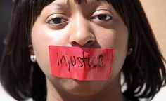 helpless/voiceless/injustice