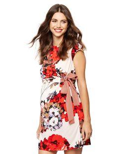 Taylor Maternity Floral-Print Dress  #maternitydress #maternityfashion #dress #mommyfashion #momfashion