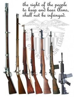 History and evolution of American rifles.