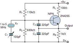 colpitts oscillator circuit electronics pinterest circuits rh pinterest com
