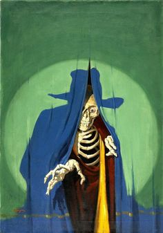 Peek-a-boo!  George Rozen's cover for The Shadow Magazine, Jan 1933. The story's called The Creeping Death