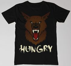 £8.99 FREE P&P  HUNGRY! Men's fashion t-shirt