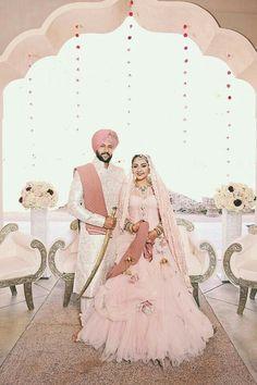 Fashion Friday: The Best Wedding Gowns Featured on Munaluchi Bride in 2015 Sikh Wedding, Punjabi Wedding, Indian Wedding Outfits, Wedding Attire, Wedding Gowns, Farm Wedding, Wedding Couples, Boho Wedding, Wedding Reception