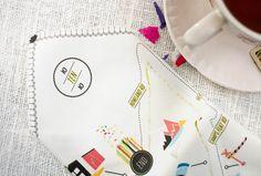 handkerchief wedding invite, by Kelli Anderson