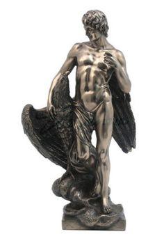 "12.75"" Ganymede & The Eagle Greek Mythology Statue Sculpture Figure Figurine"