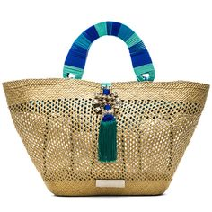 Caffe Woven Tote Bag Swimwear found on Polyvore featuring bags 6a01b35ebbc6